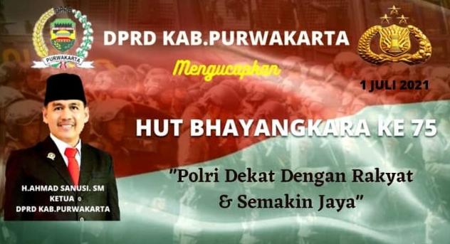 Ucapan HUT Bhayangkara Ke 75 Ketua DPRD Purwakarta